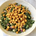 "Kale Salad with Chickpea ""Croutons"" (Vegan & Gluten-free)"