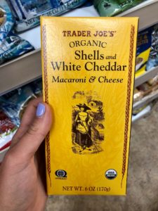 Trader Joe's White Cheddar shells