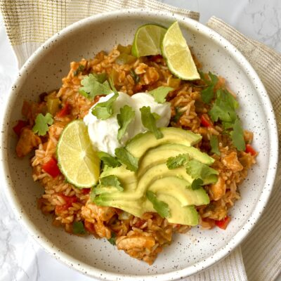 One-Pan Mexican Style Chicken and Rice (Simple and Healthy!)