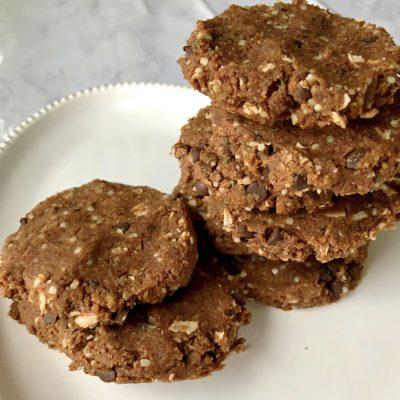 Chocolate Coconut Cookies (Grain-free & Vegan)