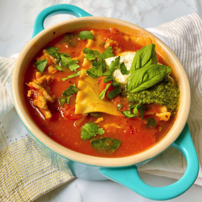 Lasagna Soup (Gluten-free and Dairy-free)