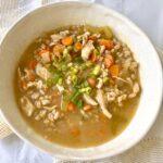 Chicken Farro Soup (Very Few Ingredients)